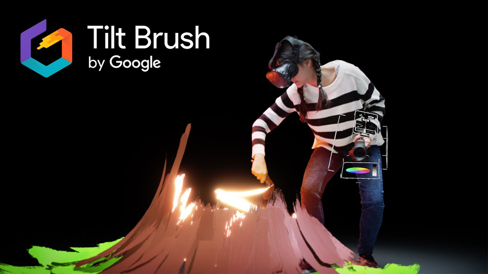 VR Arena game: Tilt Brush VR